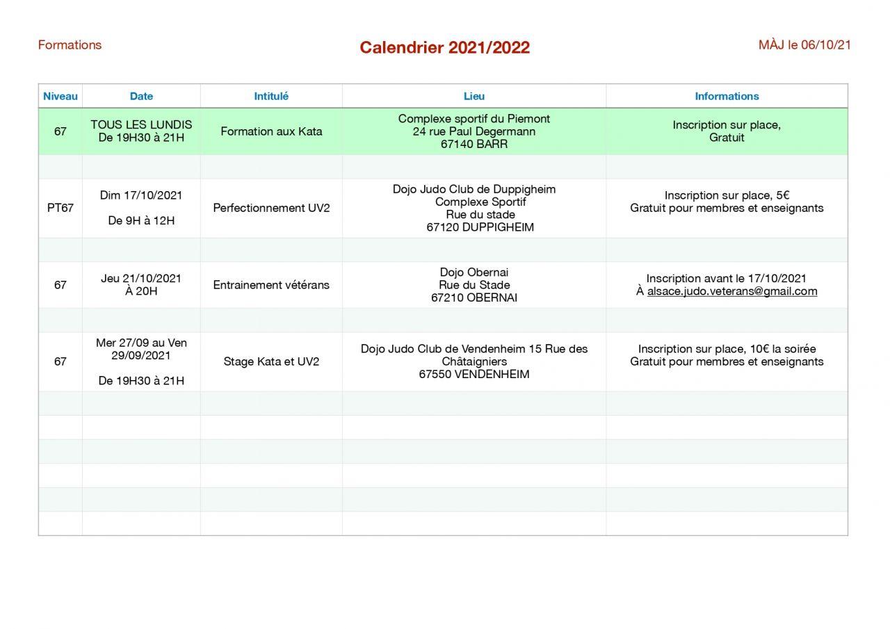 Image de la page 'Formations et entraînements'